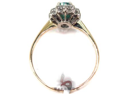 round cut Emerald & Diamond Ring 29239 Engagement