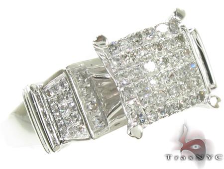 10K White Gold Diamond Ring 32349 Anniversary/Fashion