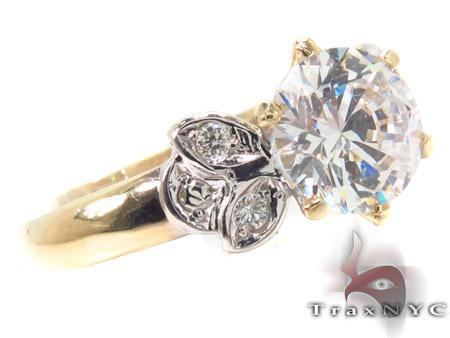 CZ 10k Gold Ring 33334 Anniversary/Fashion