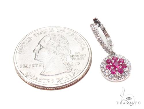 Pink Sapphire & Prong Diamond Earrings 35315 Stone