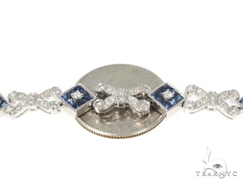 Prong Diamond Sapphire Bracelet 44989 Gemstone & Pearl