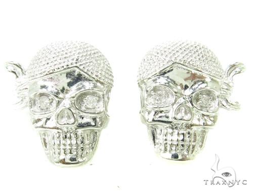 Prong Diamond Skull Silver Earrings シルバーイヤリング