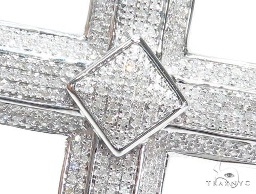 Prong Diamond Silver Cross 41773 Silver