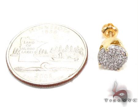 Prong Diamond Silver Earrings 30765 Metal
