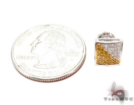Prong Diamond Silver Earrings 31084 Metal