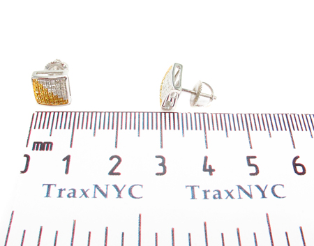 Prong Diamond Silver Earrings 31084 Metal