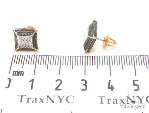 Prong Diamond Silver Earrings 35072 Metal