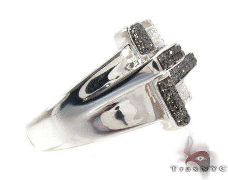 Prong Diamond Silver Ring 30782 Metal
