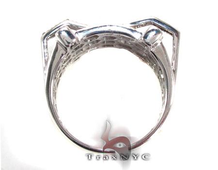 Prong Diamond Silver Ring 30782 Metal