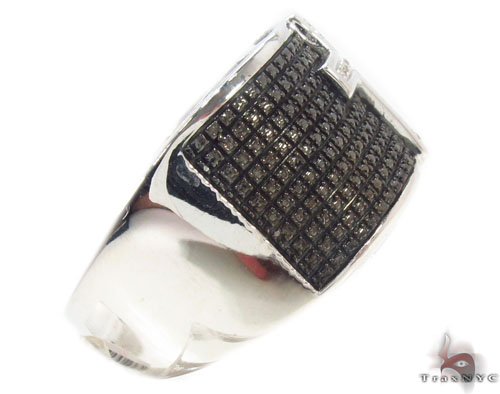 Prong Diamond Silver Ring 34542 Metal