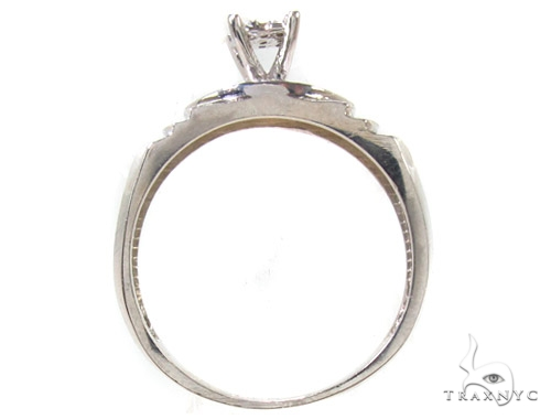 Prong Diamond Silver Ring Set Anniversary/Fashion