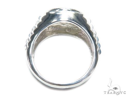 Prong Diamond Silver Ring 41988 Metal