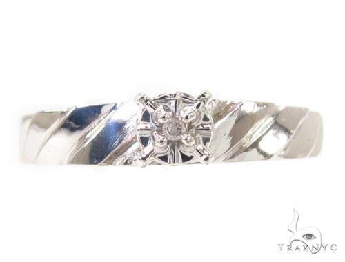 Prong Diamond Silver Ring Set Anniversary/Fashion