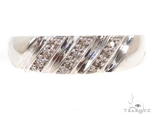 Prong Diamond Silver Ring Set 36834 Anniversary/Fashion