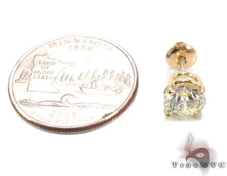 Prong Diamond Single Earring 28417 Style