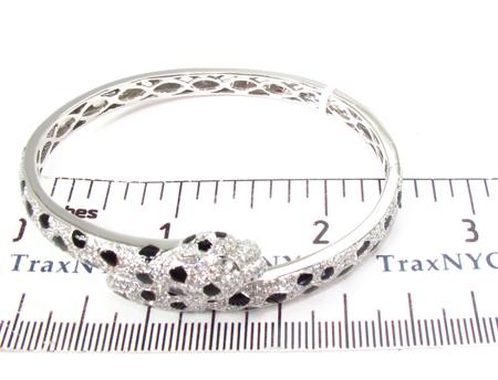 Prong Diamond Snake Blacelet 32087 Bangle