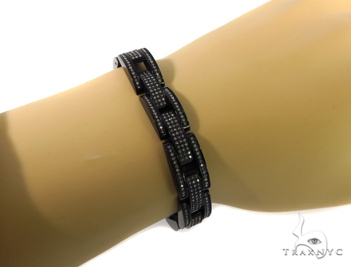 Prong Diamond Stainless Steel Bracelet 49092 Diamond
