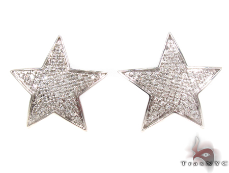 prong diamond star earrings 32640 mens stone white gold