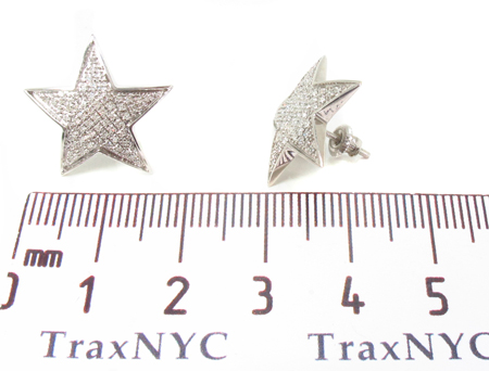 Prong Diamond Star Earrings 32640 Stone
