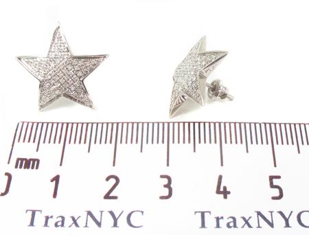 Prong Diamond Star Earrings 32640 Stone