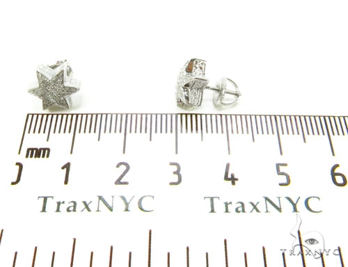 Prong Diamond Star Earrings 36857 Metal