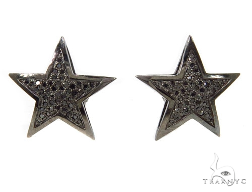 prong diamond star earrings 39935 mens diamond earring
