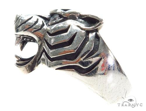 Tiger Diamond Sterling Silver Ring 40942 Metal