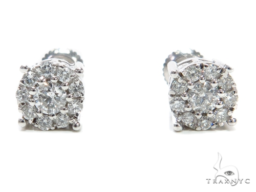 Prong Diamond Stud Earrings 40894 Stone