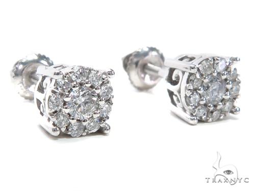 Prong Diamond Stud Earrings 40894 Stone