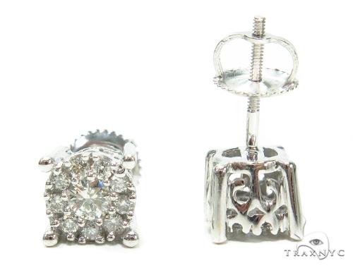 Prong Diamond Stud Earrings 42446 Style