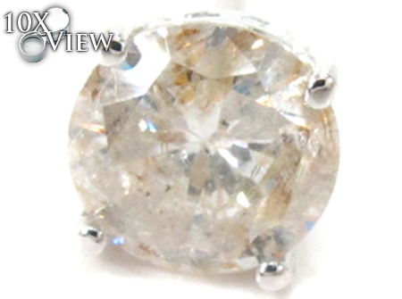 Prong Diamond Stud Single Earring 27496 Style