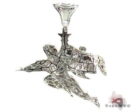 Prong Diamond Superman Silver Pendant 30971 Metal