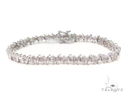 Prong Diamond Tennis Bracelet 44867 Tennis