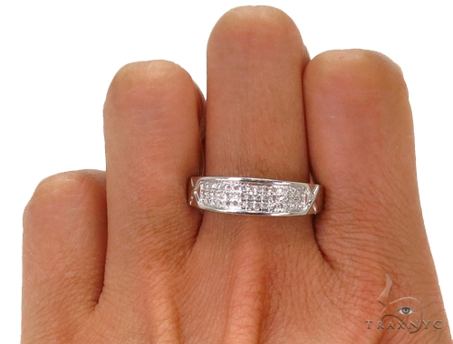 Prong Diamond Wedding Band 39475 Stone
