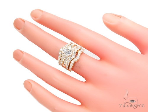 Prong Diamond Wedding Ring Set 45064 Engagement