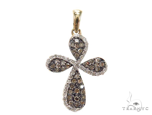 Prong Diamond Cross Pendant 41916 Gold Cross Pendant