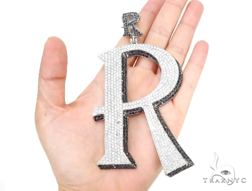 Prong 'R' Diamond Initial Pendant 42358 Style