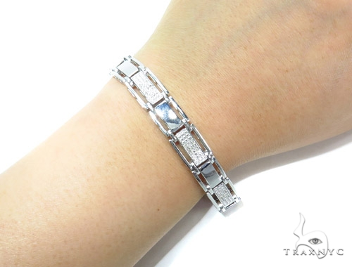 Prong Sterling Silver Bracelet 41776 Silver