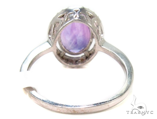 Amethyst Diamond Silver Ring 36825 Anniversary/Fashion
