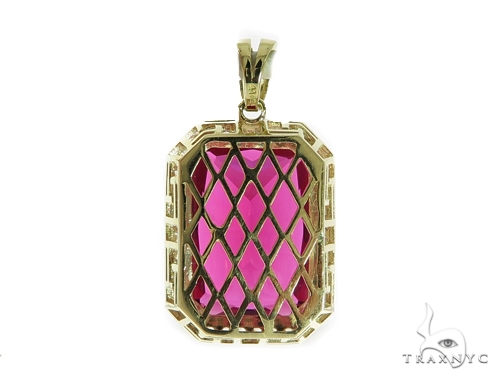 Red Lotus Gold Pendant 49584 Metal