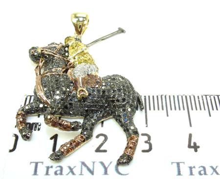 Rider Horse Diamond Pendant Metal