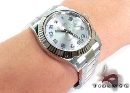 Rolex Datejust II White Gold & Steel 116334 Diamond Rolex Watch Collection