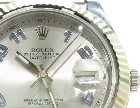 Rolex Datejust II White Gold & Steel 116334 Diamond Rolex Watch Collection