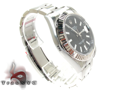 Rolex Datejust II White Gold and Steel 116334 Diamond Rolex Watch Collection