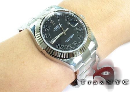 Rolex Datejust II Steel and White Gold 116334 Diamond Rolex Watch Collection