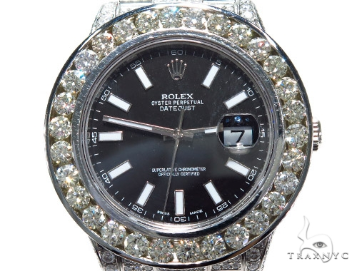 Rolex Datejust II Steel and White Gold 116334 45212 Diamond Rolex Watch Collection