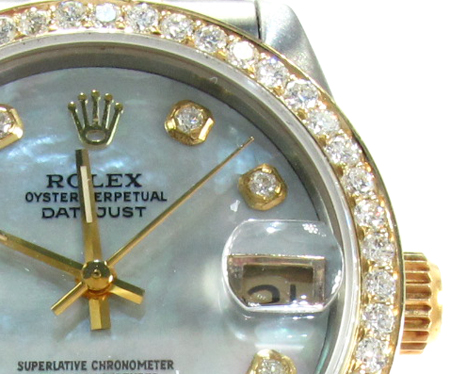 Rolex Datejust Steel and Yellow Gold 116203 Diamond Rolex Watch Collection