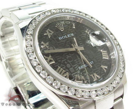 Diamond Rolex Datejust Steel 116200 BKJRO Diamond Rolex Watch Collection