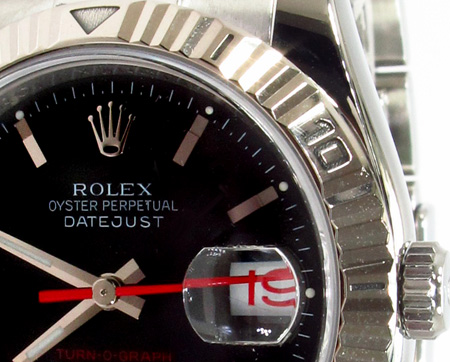 Rolex Datejust White Gold and Steel 116264 Diamond Rolex Watch Collection
