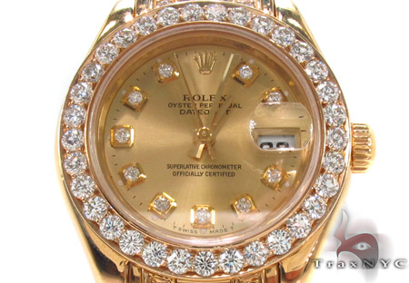 Rolex Pearlmaster Yellow Gold 80318 Ladies Rolex Collection